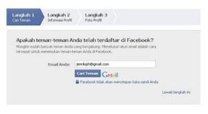 panduan gambar cara membuat facebook